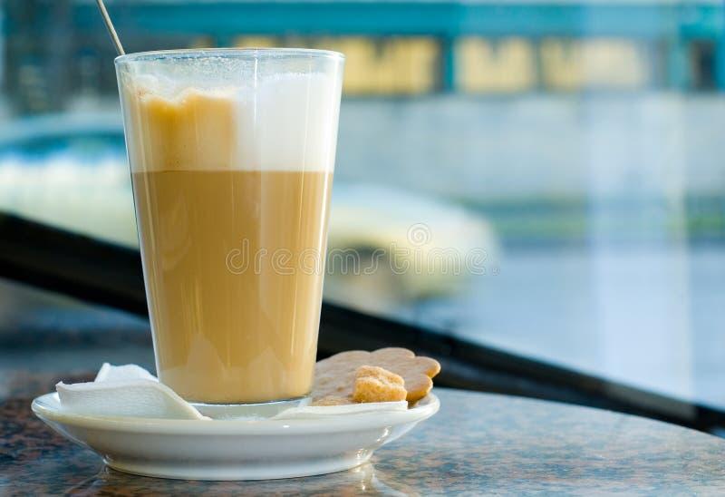 caffe latte 免版税图库摄影