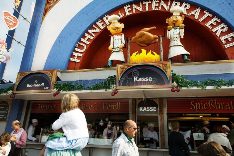 Caffe in Munich. An image of a caffe in Munich at Oktoberfest stock images