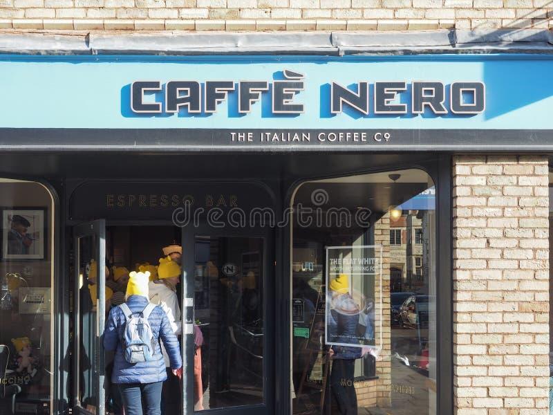 Caffe Nero witryna sklepowa w Ely obraz royalty free