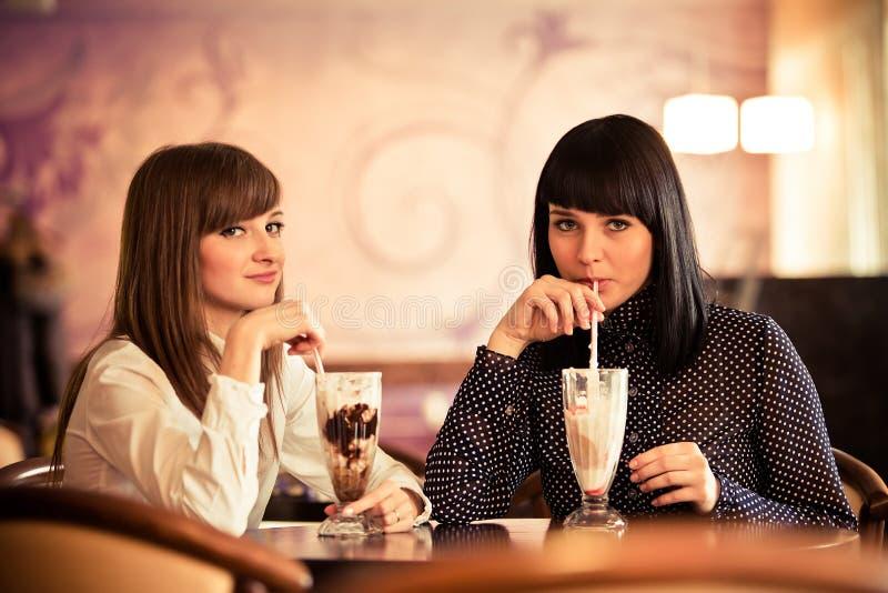 caffee妇女 免版税库存图片