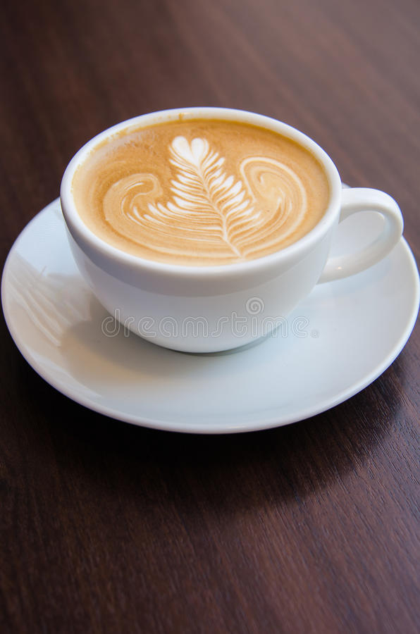 Caffee art latte stock images