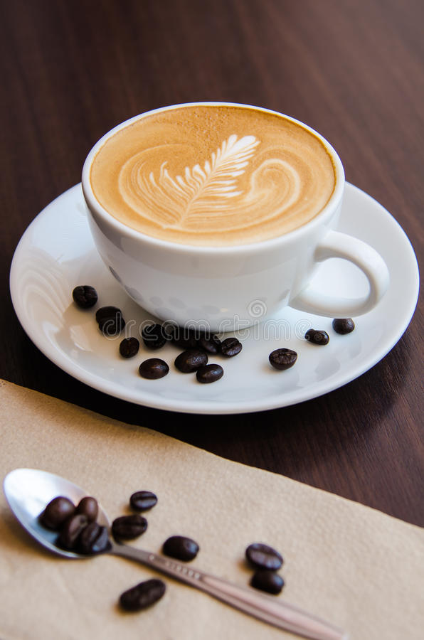 Caffee art latte royalty free stock image