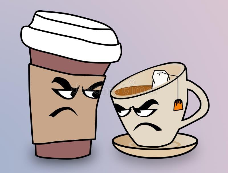 Caffee vs. tea stock images