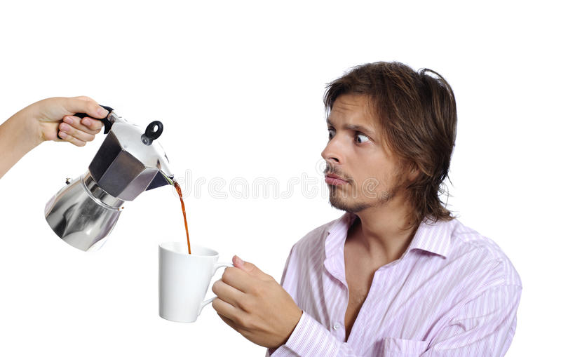 Download Caffeine? stock photo. Image of pouring, messy, kitchen - 13284000