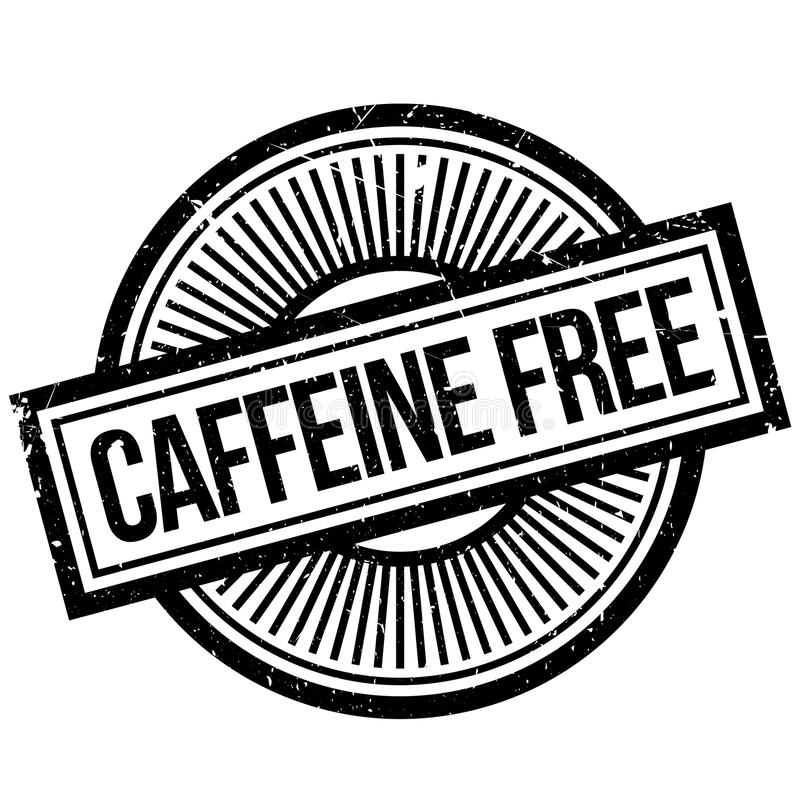 Caffeine free stamp. Grunge design with dust scratches. Effects can be easily removed for a clean, crisp look. Color is easily changed stock photo