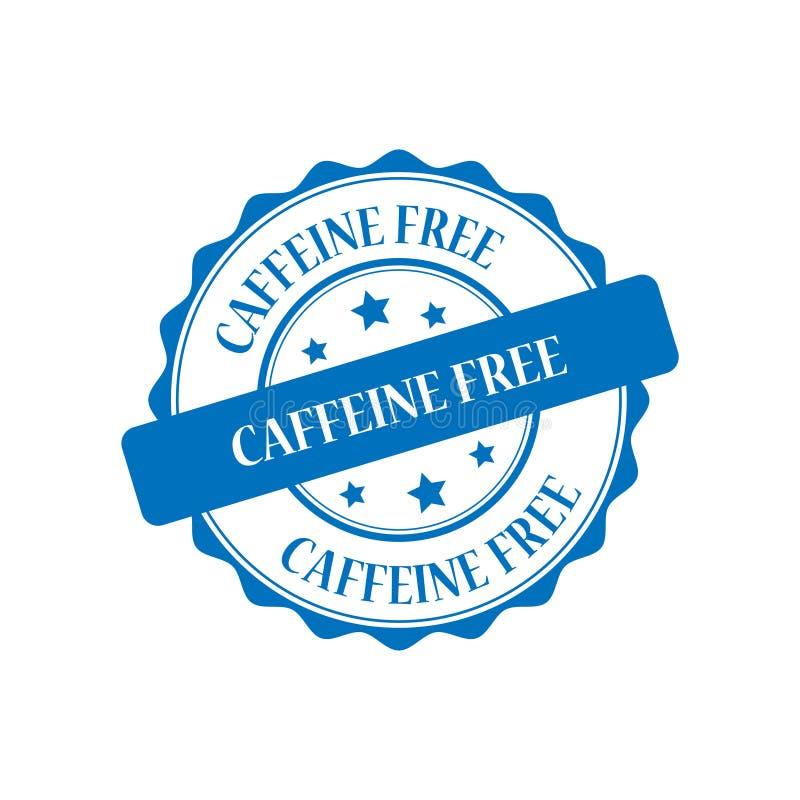 Caffeine free stamp illustration. Caffeine free stamp seal illustration design stock illustration