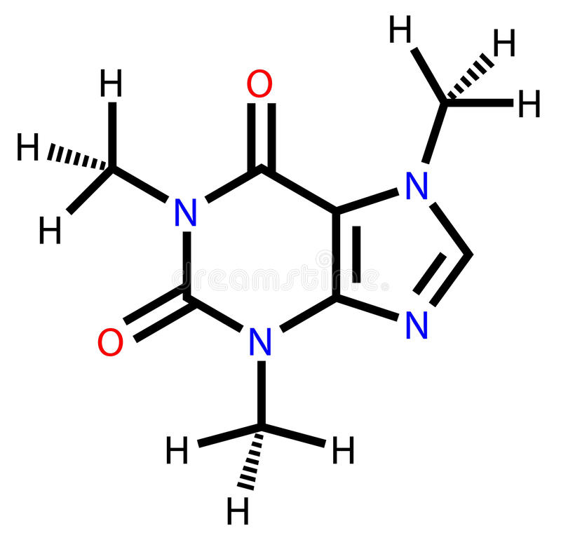 Download Caffeine Structural Formula Stock Vector - Image: 22744389