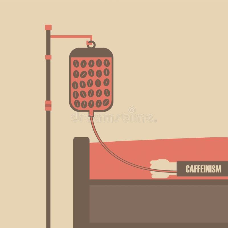 Caffeinism vektor illustrationer