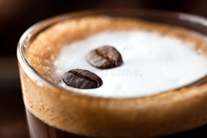 caffemacchiato royaltyfri fotografi