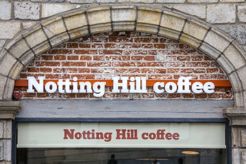 Caffetteria di Notting Hill immagine stock libera da diritti