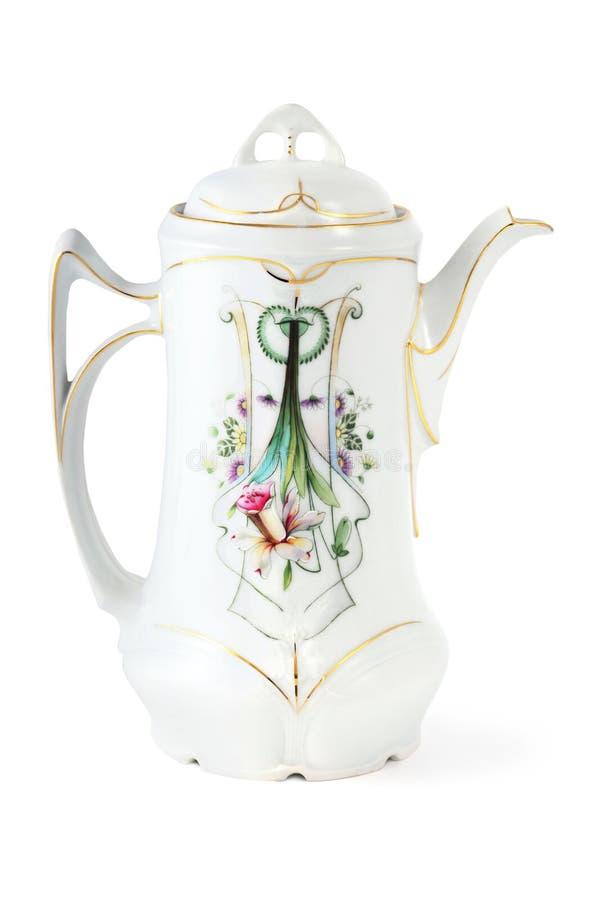 Caffettiera antica a partire da tempo di Art Nouveau immagini stock libere da diritti