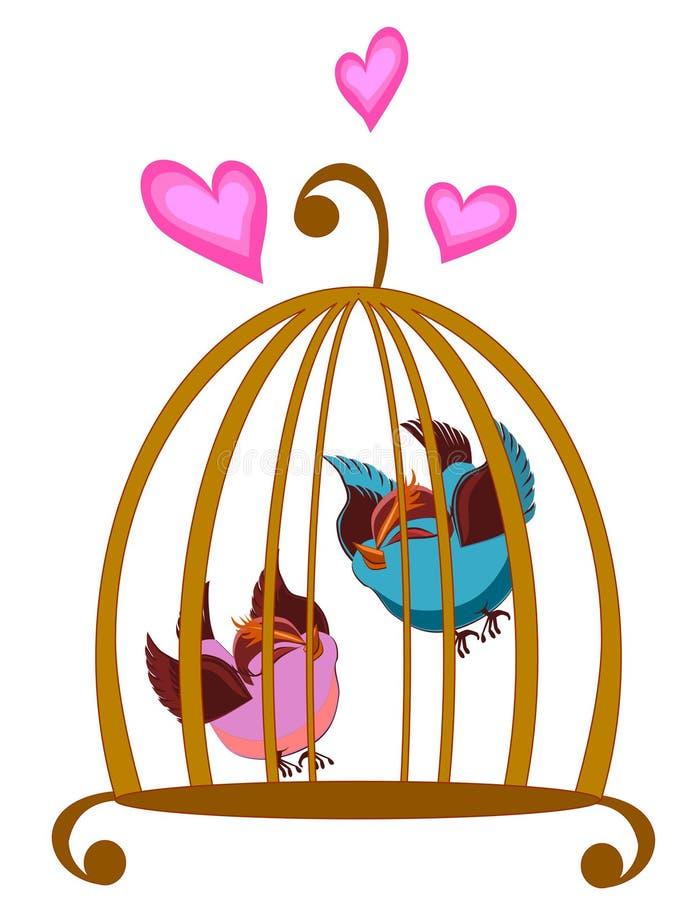 Cage à oiseaux illustration de vecteur