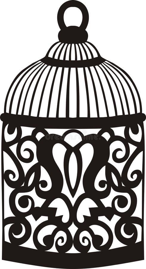 Cage à oiseaux décorative. illustration de vecteur