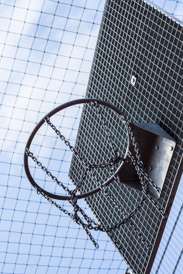 Cage bball hoop 01 stock photo