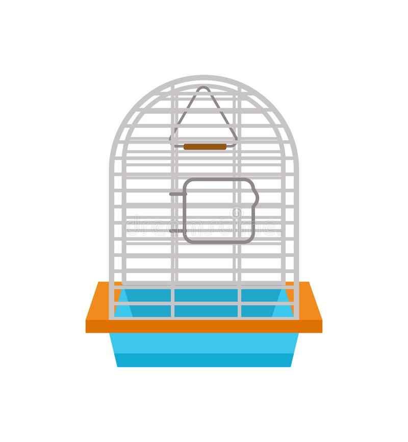 Cage for bird isolated vector icon vector illustration