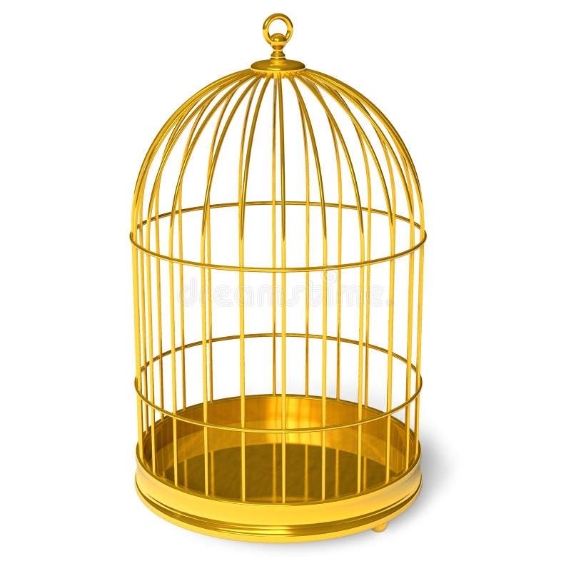 Cage d'or illustration de vecteur