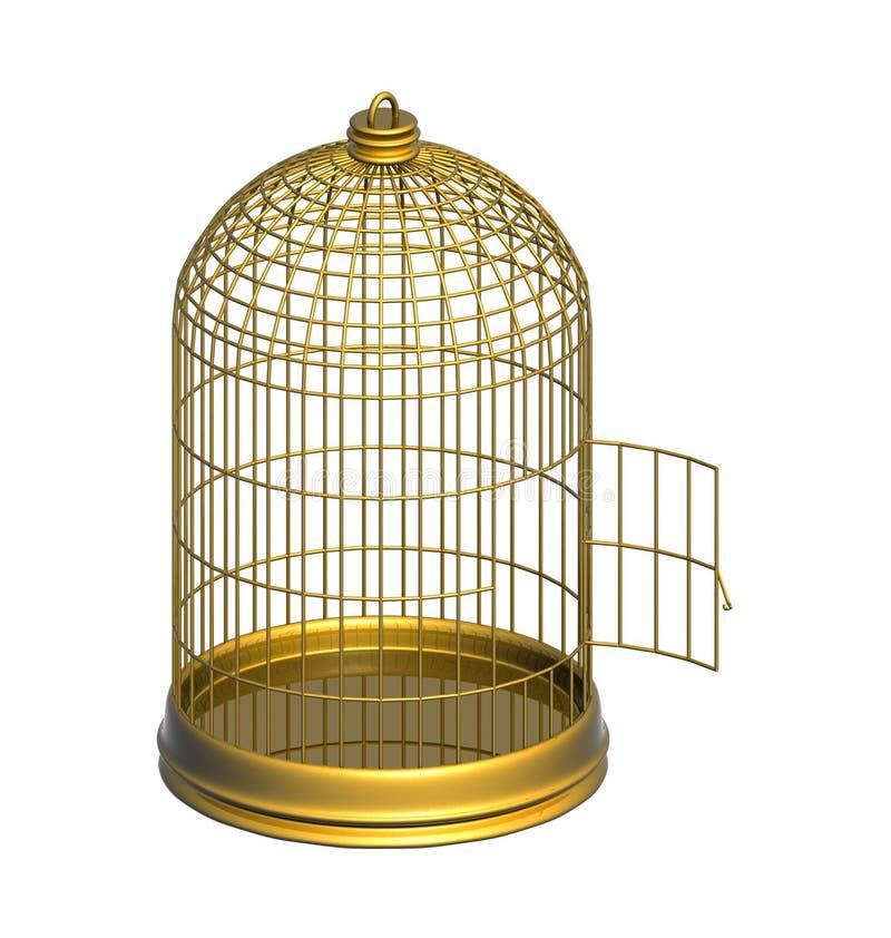 Cage d'or illustration libre de droits