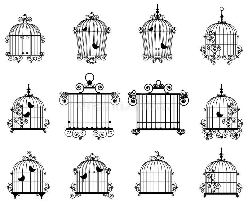 Cage d'oiseau illustration de vecteur