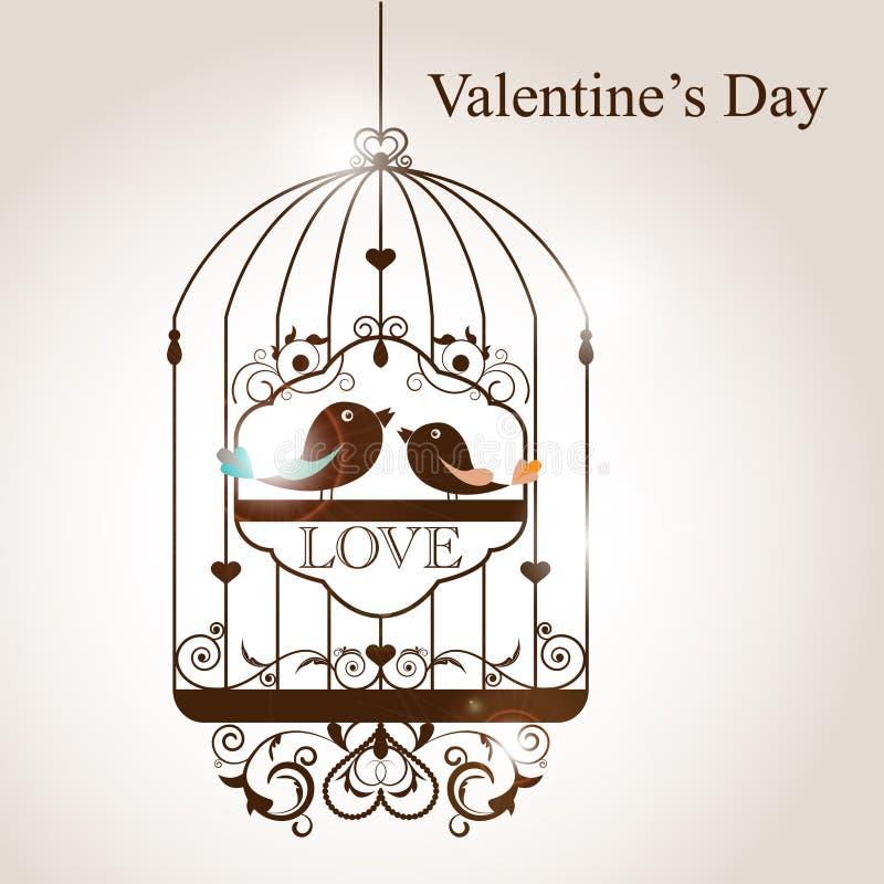Cage d'oiseau illustration libre de droits