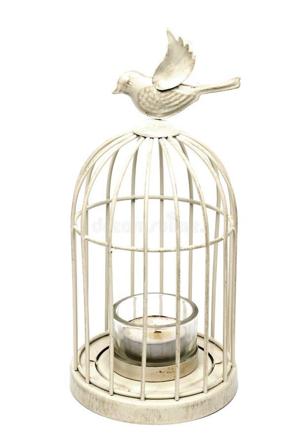Cage en métal blanc de vintage photos libres de droits