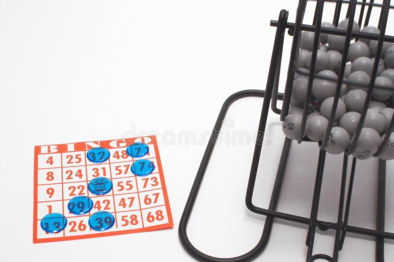 Cage et carte de bingo-test photo libre de droits