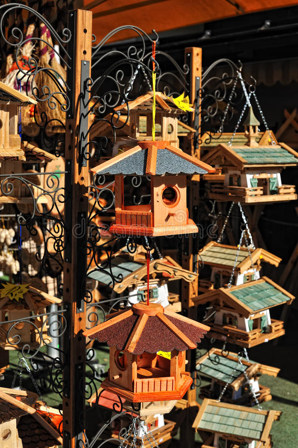 Download Cage for feeding the birds stock image. Image of house - 22824643