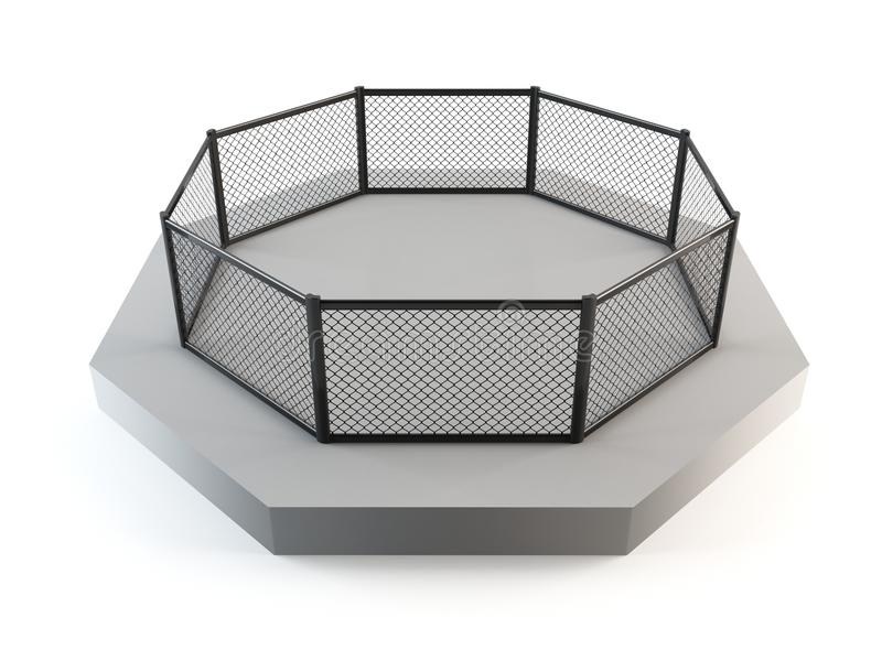 Cage fighting octagon royalty free stock images