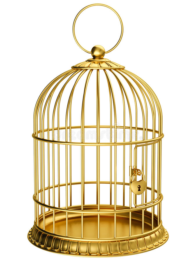 cage guld stock illustrationer