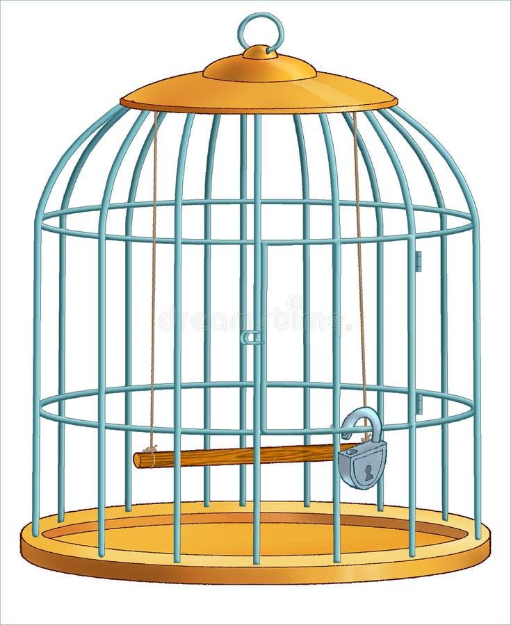 Cage pour des oiseaux. illustration stock