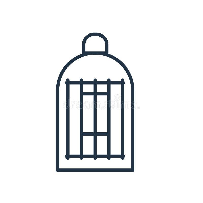 Cage symbolsvektorn som isoleras på vit bakgrund, burtecken stock illustrationer