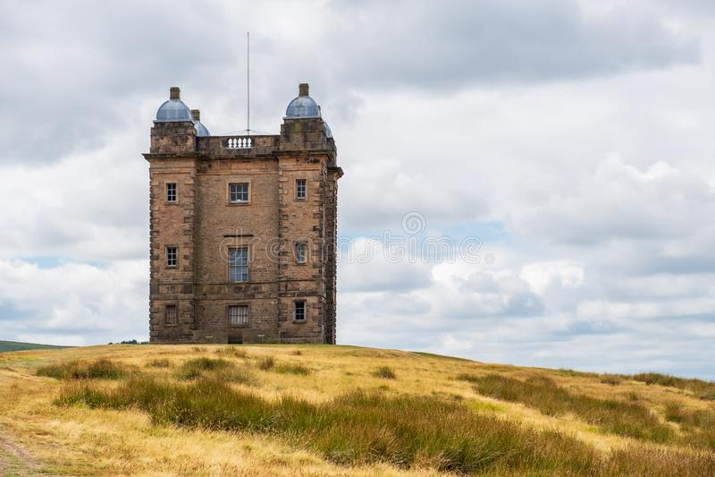 The Cage Tower, National Trust Lyme, in the Peak District, Cheshire, UK. The Cage tower of the National Trust Lyme, in the Peak District, Cheshire, UK royalty free stock image
