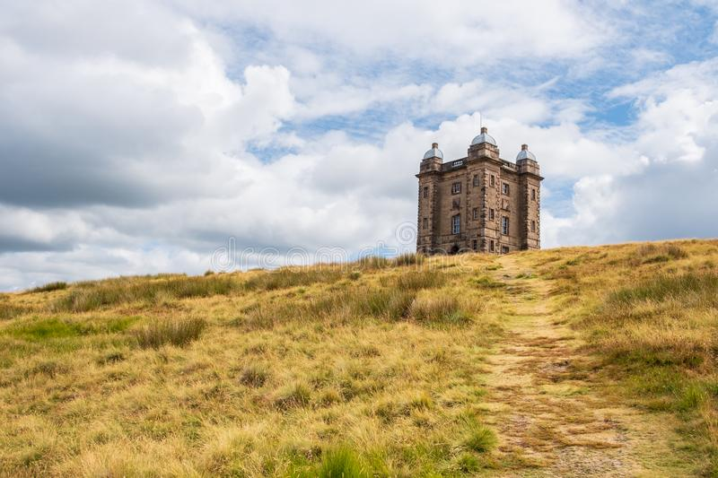 The Cage Tower, National Trust Lyme, in the Peak District, Cheshire, UK. The Cage tower of the National Trust Lyme, in the Peak District, Cheshire, UK stock images