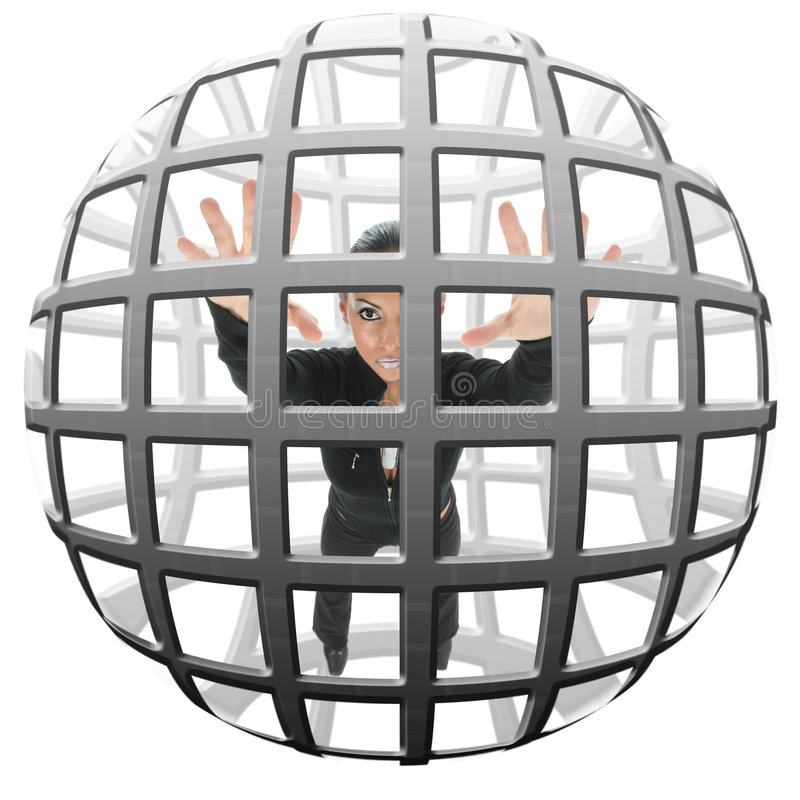 Download Caged stock image. Image of business, people, pretty, bulgarian - 1370729