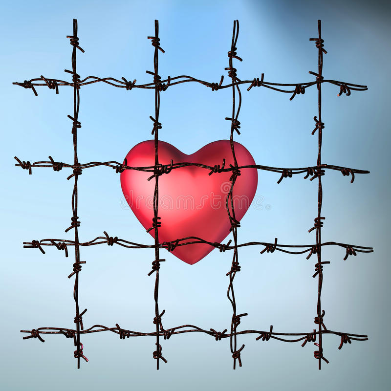 Free Caged Heart Stock Images - 16504694