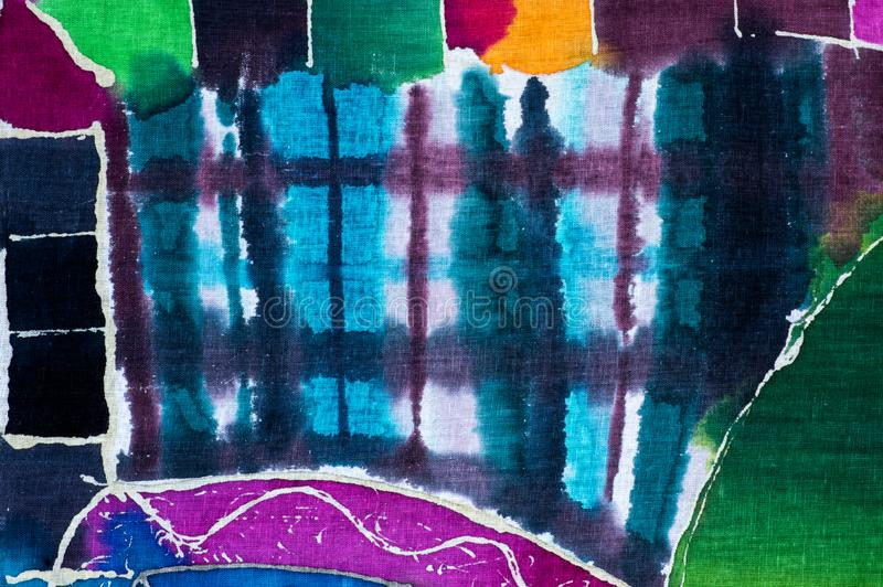 Cages, abstraction color?e, fragment, batik chaud illustration libre de droits