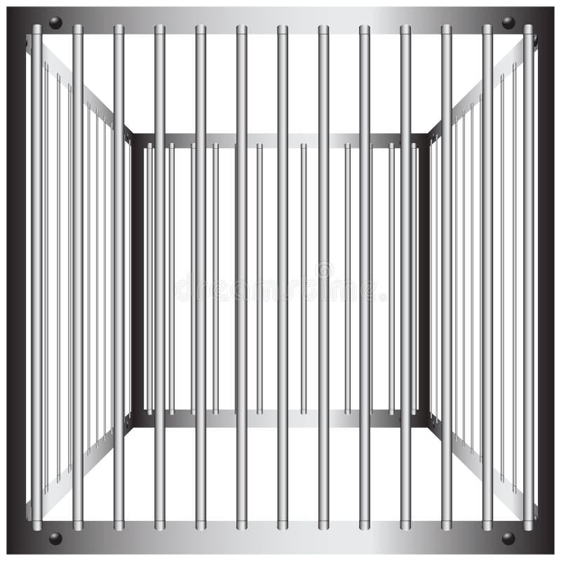 Cages en acier illustration libre de droits