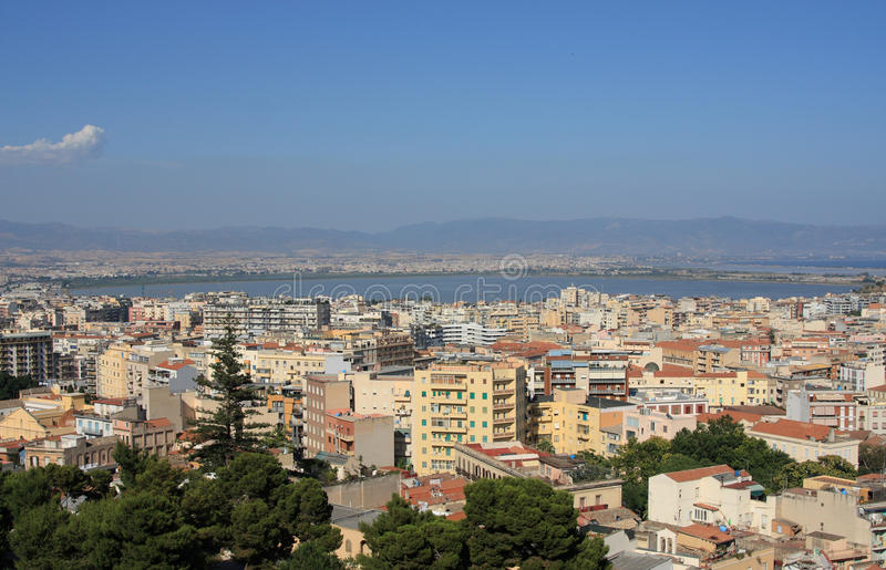 Cagliari. View of the city of Cagliari - sardinia italy royalty free stock photos