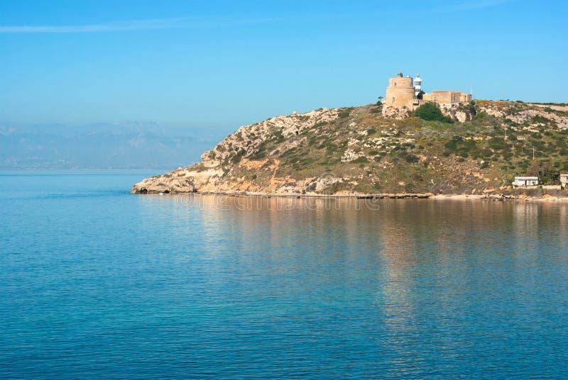 Cagliari, Cala Mosca royalty-vrije stock afbeeldingen