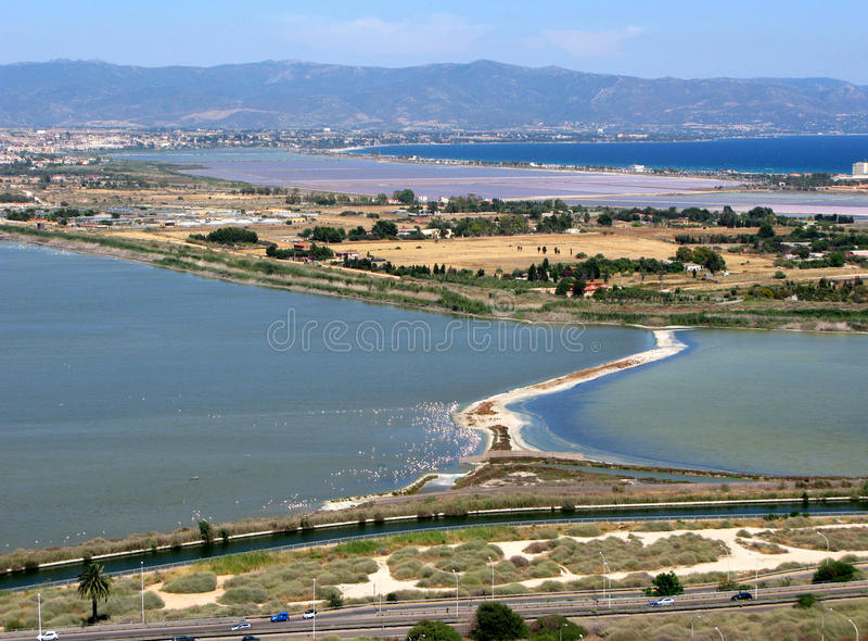 Cagliari capital of the island Sardinia Italy stock image
