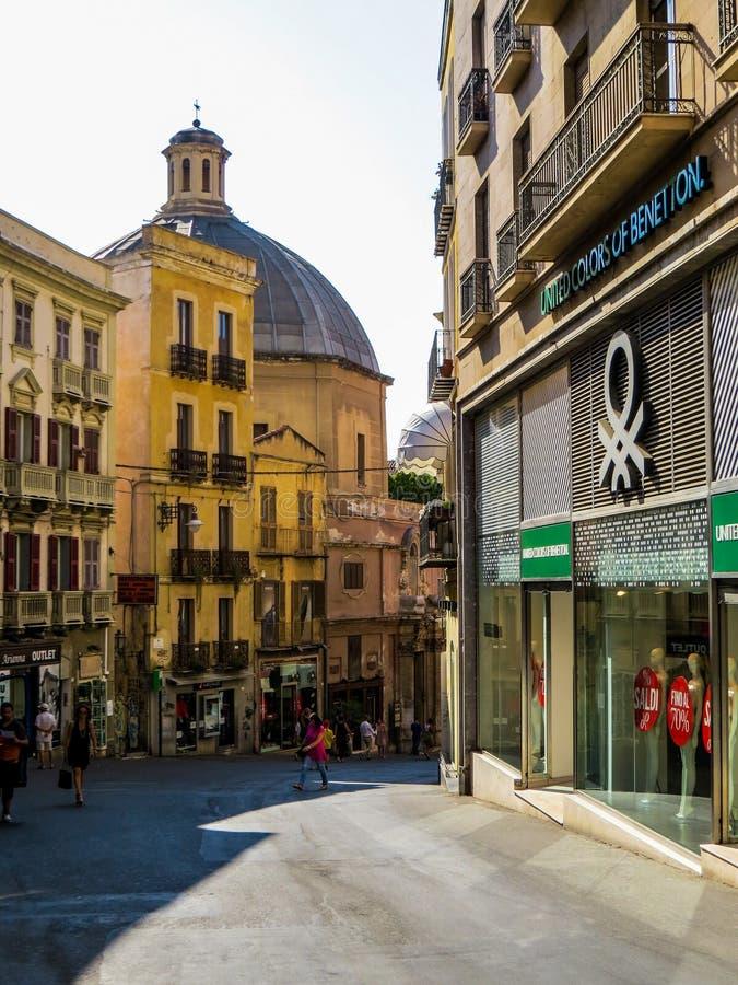 Cagliari centrum miasta fotografia royalty free