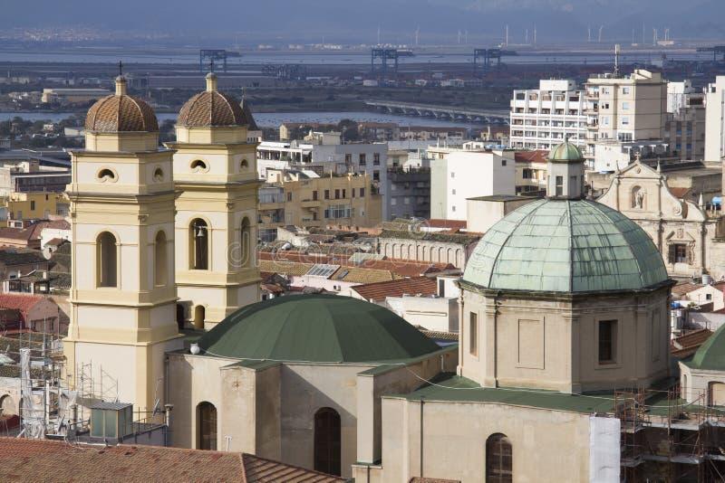 Cagliari - chiesa di Santa Chiara - la Sardegna fotografia stock libera da diritti