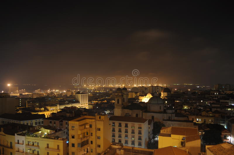 Download Cagliari night stock image. Image of city, buildings - 27426867