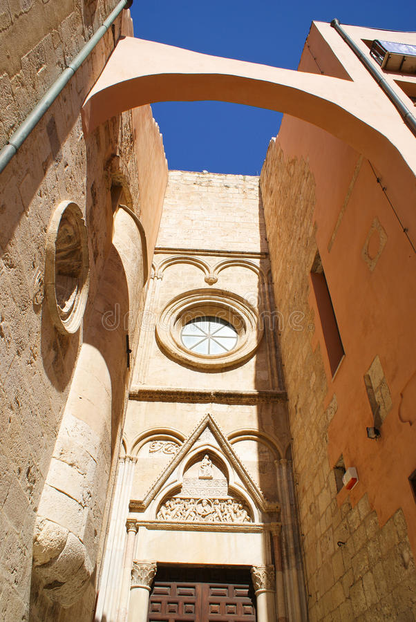 Cagliari old architecture royalty free stock images