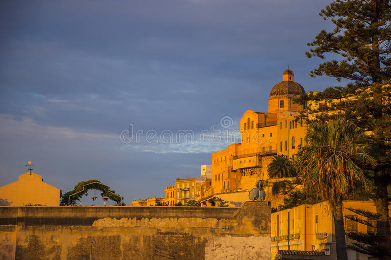 Cagliari. Old town of Cagliari, Sardinia royalty free stock photo