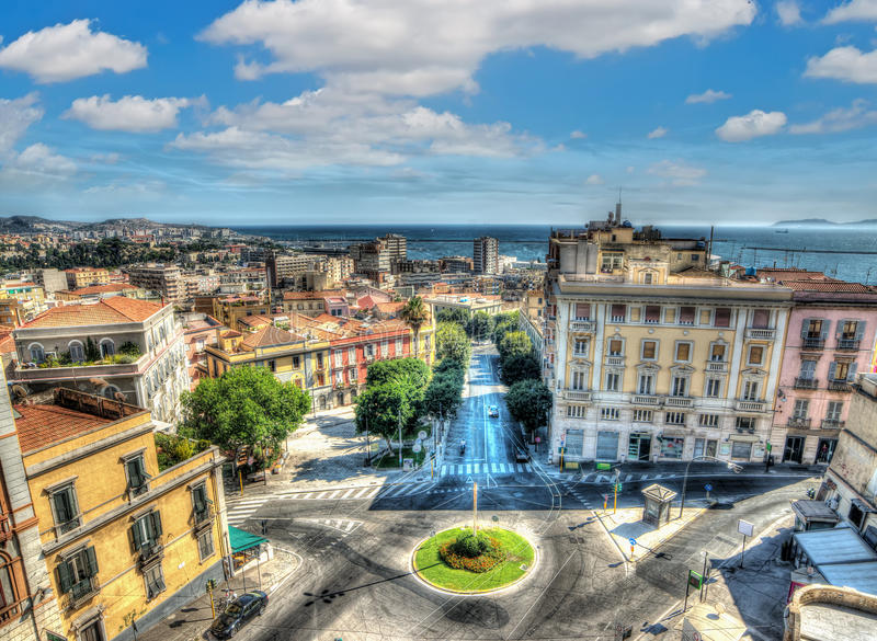 Cagliari Panorama. In hdr tone royalty free stock images