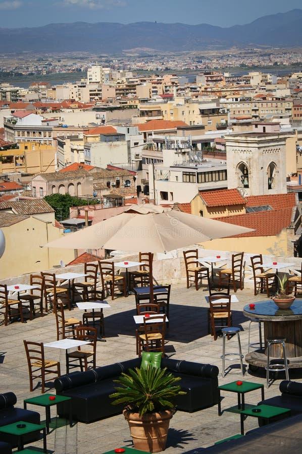 Cagliari panorama, Sardinia holidays stock images