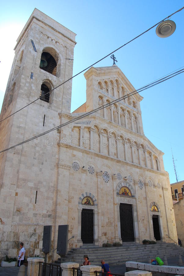 Cagliari's Cathedral - Italy stock image