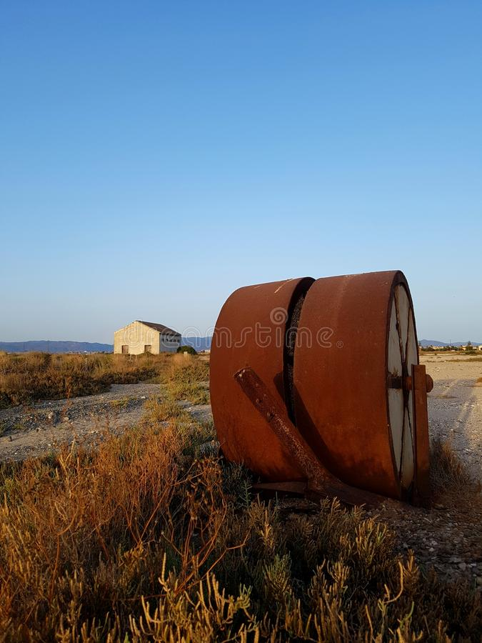 Cagliari, Sardegna, Italia, parco regionale salino di Molentargius immagini stock