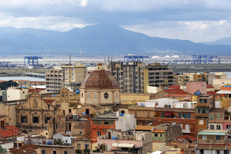 Download Cagliari in Sardinia stock image. Image of skyline, panoramic - 22976005