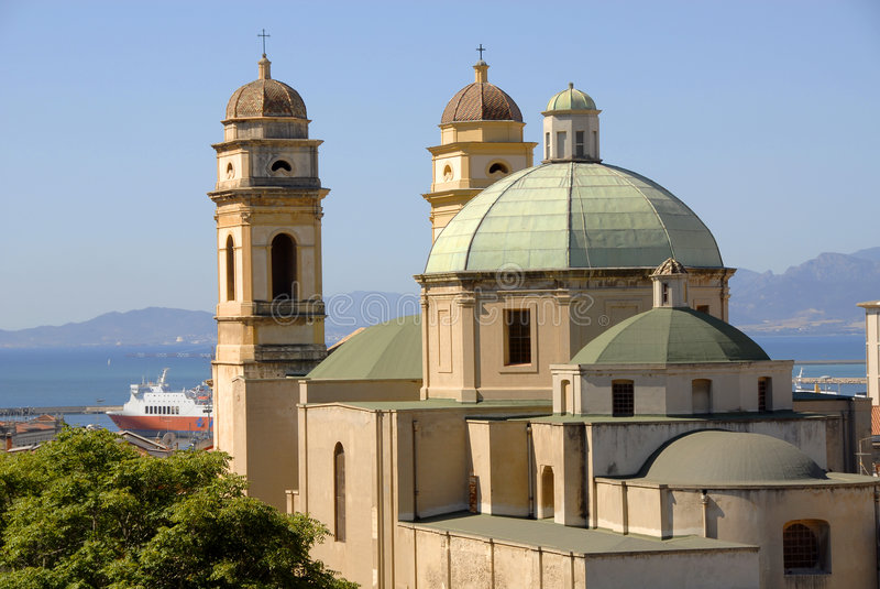 Download Cagliari, Sardinia, Italy stock photo. Image of view, roof - 8488164